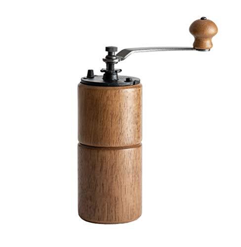 WXQYR Holz Tragbare Hand-kaffeemühle Einstellbar Manuelle Kaffeemühle Perfekt Für Zuhause Im...