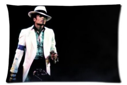 'artsalong The King of Pop Michael Jackson Throw Pillow Cases Standard Size 20