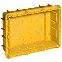 Bticino 16206Abzweigdose Unterputz Befestigungsmöglichkeit für Unterteilung in 2Fächer, gelb