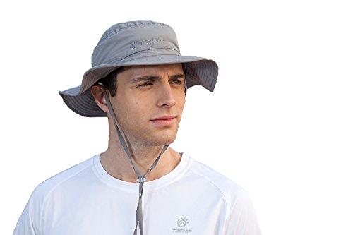 Sportswear Bora BOONEY Sun Hat Angeln Huting Hat Breite Krempe Bucket Boonie Safari UV Proof Wandern Hat Cap, Herren, dunkelgrau (Bora Bora Hat)