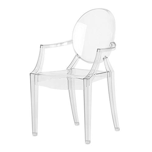 Kartell Loulou Ghost - Silla reclinable para niños, Transparente (Crystal),  39 x 37 x 63 cm