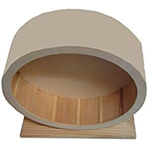 Emcke Holzlaufrad mit geschlossener Lauffläche 15 cm in hell