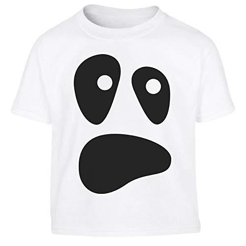 Ghost Kostüm Gesicht - Halloween Kostüm Ghost Geister Gesicht Kleinkind Kinder Jungen T-Shirt 86/94 (1-2J) Weiß