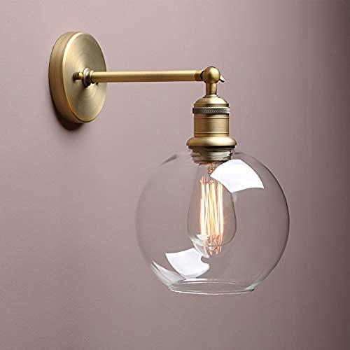 Runde Transparente Glasgang-Haushaltslampen Der Mini Retro- Industriellen Wandlampe -