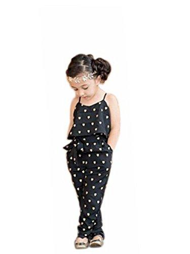 Kleinkind SommerKleidung Baby Mädchen Overalls Rompers Jumpsuits Stück Hosen Kinder Kleidung Weihnachten Outfits Kleider Babykleidung Baby Kleinkind Druck Strampler Hosen LMMVP (Schwarz, 2 T)