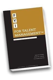 FYI For Talent Management: The Talent Development Handbook