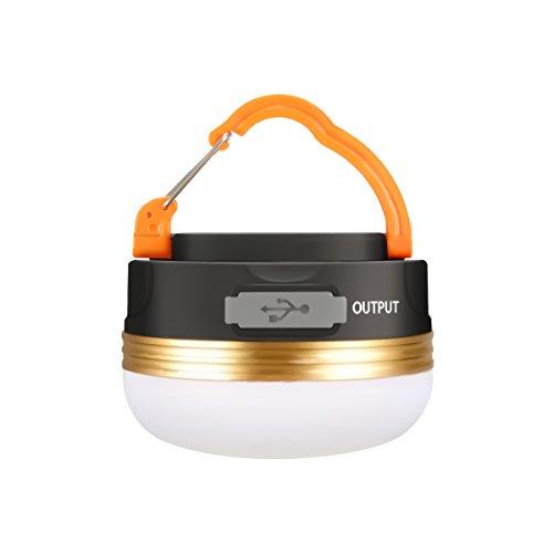 Camping Lampen LED,GLISTENY Kampierende Beleu LED-Laterne mit 1800mAh Energien-Bank, wiederaufladbare eingebaute Batterie 5V USB, IP65 imprägniern, magnetisches Portable mit 3 Modi für kampierendes im