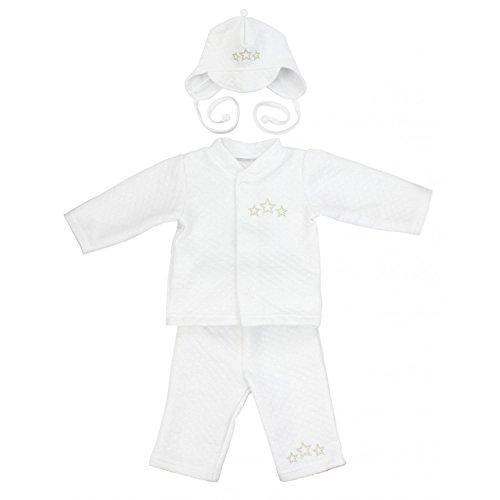 TupTam Baby Jungen Taufanzug 4-tlg. Set, Farbe: Weiß, Größe: 62
