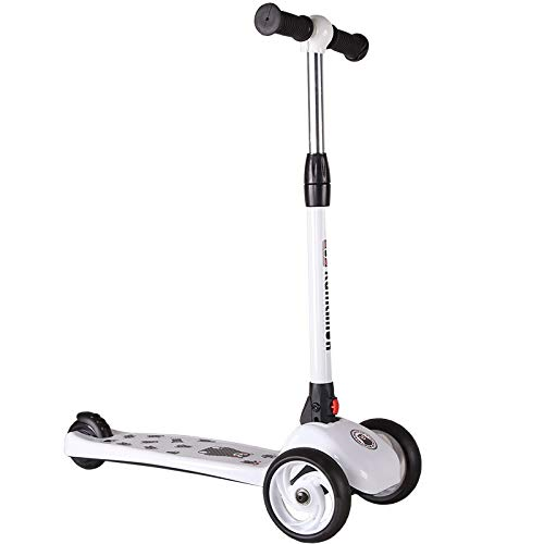 ZHIJINLI Children Scooter 3 years Old 6 years Old Baby 3 Wheel Scooter Men and Women Kids Flash Wheel Pedal Scooter White