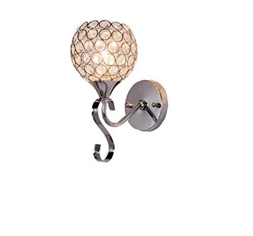 1949shop Wandleuchten mit Kristalltropfen, poliertem Chrom-Finish, Nachttischlampe, Wandleuchte für Wohnzimmer, Schlafzimmer, Flur und Wandschrank (golden) -