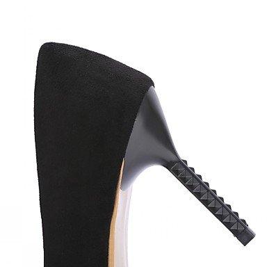 Moda Donna Sandali Sexy donna tacchi Primavera / Estate / Autunno / Inverno tacchi / Piattaforma / pompa di base / Comfort / Novità Black