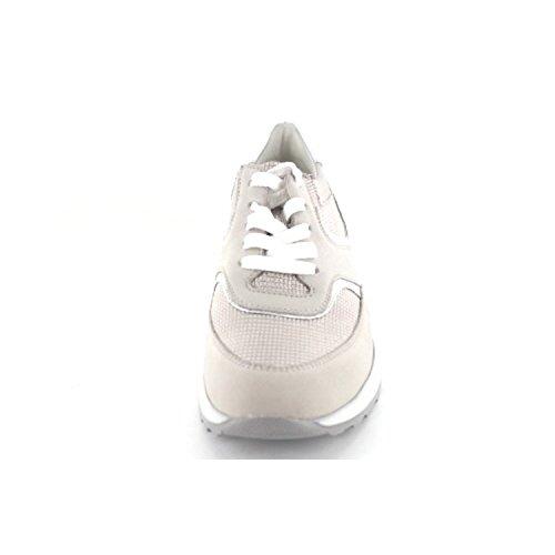 Waldläufer  364018-502-349, Chaussures de ville à lacets pour femme 7502 349°stein/silber/cord