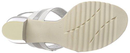 Marco Tozzi Damen 28704 Slingback Sandalen Weiß (White Pat.Comb)
