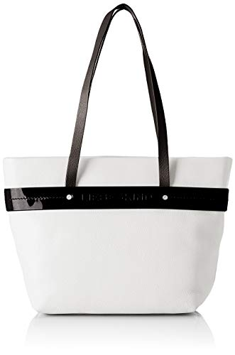 Leder Shopper Medium (Liebeskind Berlin Damen Soshopper Shopper Medium Schultertasche, Weiß (Optic White), 12x25x26 cm)