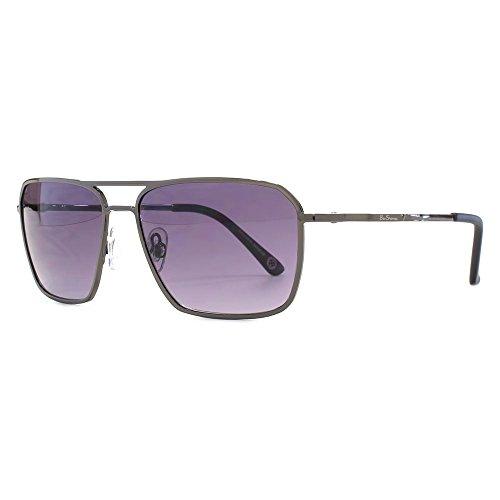 Ben Sherman Fine Frame Metal Square Sunglasses in Dark Gunmetal BEN020