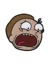 Morty Patch Rick & Morty vollständig aufgesticktem Eisen/Nähen auf Badge DIY Aufnäher Souvenir (Meeseeks Kostüm)