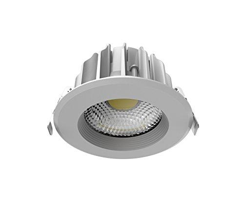 V-TAC SKU.1270 Downlight LED High LUMENS 10W VT-26101, Plastique,et Autre materiaux, 10 W, Blanc, Profondeur : 71 mm