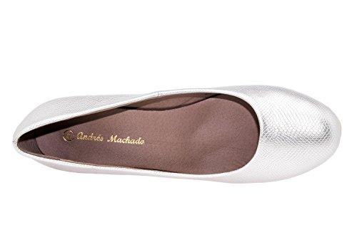AM5002 - Andres Machado - Klassischer Damenschuh in Soft Dunkelblau Braut Silber