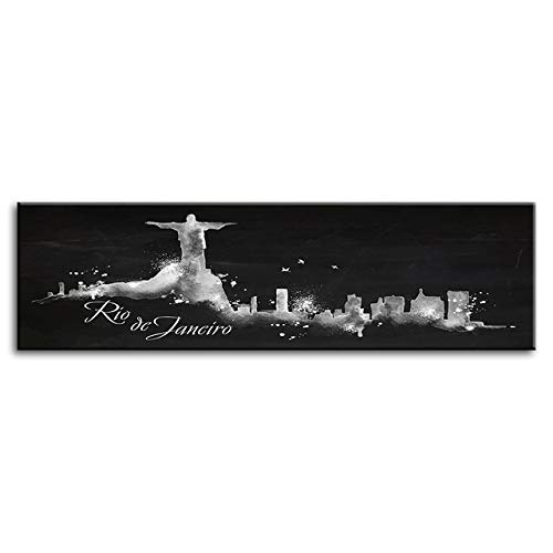 zxddzl Leinwandbild Poster abstrakte Weltstadt Architektur Landschaftsmalerei Dekoration schwarz und weiß