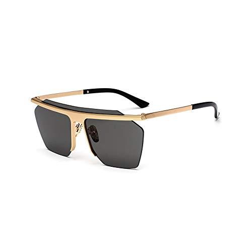 WJFDSGYG Mode Randlose Sonnenbrille Männer Frauen Spiegel Sonnenbrille Designer Brille Beschichtung Objektiv Punk Stil
