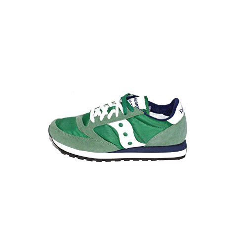Saucony Jazz Original Herren, Wildleder, Sneaker Low Green / White