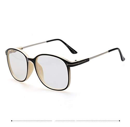 brillengestell Brillenfassungen Brillen Big BoxFan -KunstT-TypKlarglas Brille,elegant schwarzC2