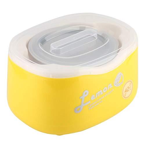 Garosa Mini Máquina de Yogur Automática de Acero Inoxidable Máquina de Yogur Casera Eléctrica 2l Gran Capacidad Contenedor de Yogur Enchufe de LA UE(Yellow)