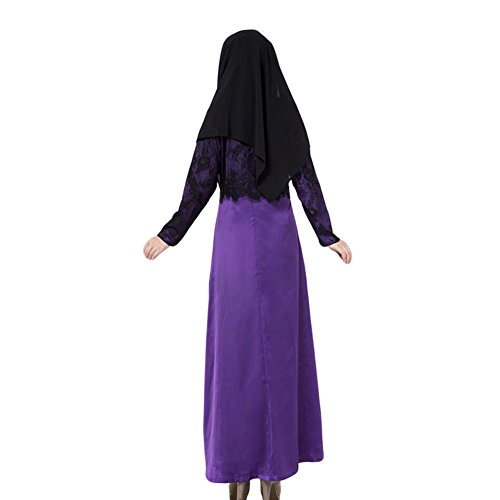 Haodasi Mode Musulman Long Dress Islamic Abaya Turkish Ladies Femme Vêtements purple
