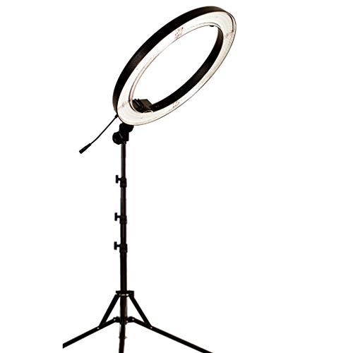 LIU UK Ring Light Ringlicht, 24-Zoll-240 Dimmbare 3200k / 5500k-Kreis-Licht Mit 78-Zoll Verstellbaren Standfuß Scheinwerfer-Kit-Adapter-Einfassung Tragetasche -