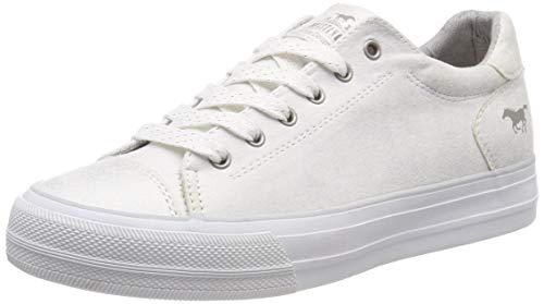 MUSTANG Damen 1272-304-100 Sneaker, Weiß (Off-White 100), 40 EU