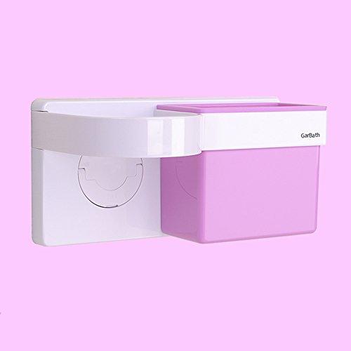 Badezimmer LHA Shelf Haartrockner-Gestell Vermeiden, Regalsaugwand zu Bohren Shelves (Farbe : Pink)