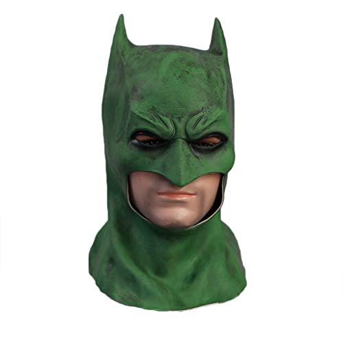 (GanSouy Cosplay Kopfbedeckung, Halloween Maskerade Batman Dark Knight Maske für Erwachsene - One Size, Grün,Batman-56cm~60cm)
