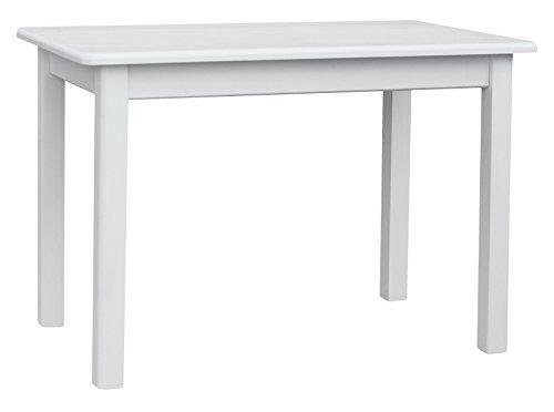 koma Esstisch Küchentisch 100 x 60cm Speisetisch Kiefer Tisch massiv Restaurant Hersteller (Weiss)