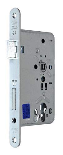 BKS FH Türschloss/Stahltürschloss DIN 18250 DO 9.0, Dornmaß 65mm, Entfernung: 72mm, Stulp: 24x235mm abgerundet, DIN Links, incl. SN-TEC® Montageset