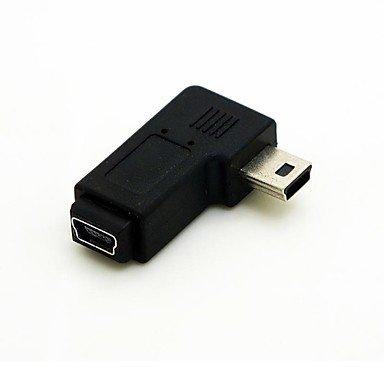azazaz @ im rechten Winkel von 90 Grad Mini-USB-Stecker auf Mini-USB-Buchse Verlängerungsadapter conventer