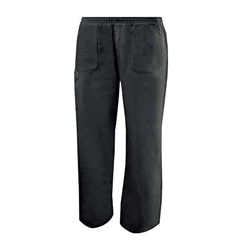 Misemiya - pantaloni elastici uniforme di lavoro clinica ospedale pulizia veterinario igiene ospitalitÁ - ref.711 - s, nero
