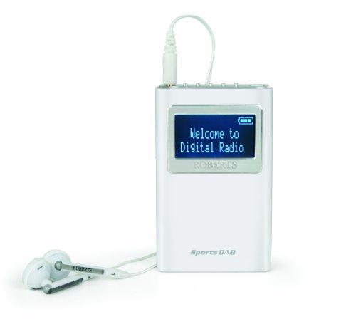 Roberts Radio - Radio digitale per attività sportiva, DAB5 DAB/DAB+/FM, colore: bianco