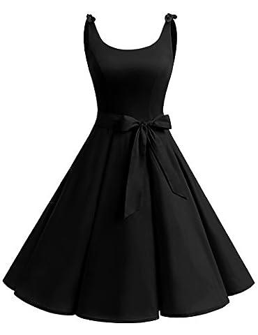 Robe Noir Vintage - Bbonlinedress Vintage rétro 1950's Audrey Hepburn robe