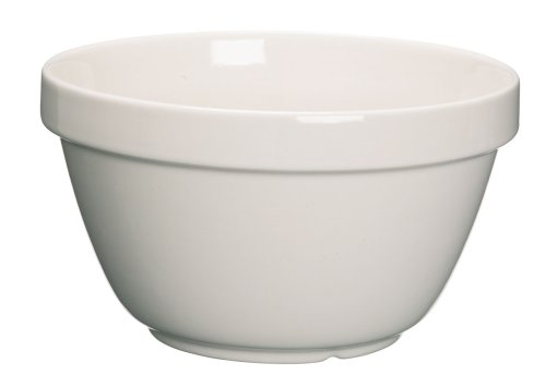 Kitchen Craft KCPUDCER36 Bol à Pudding, Mélange de Plusieurs matériaux, Blanc, 9 x 12 x 16 cm