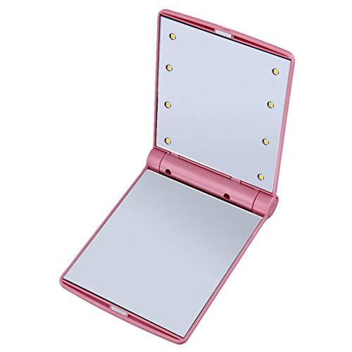 LBPLWY Runde Tragbare Spiegel Kompakte Desktop Reisekoffer Verpackung Make-Up Kosmetikkoffer Veranstalter