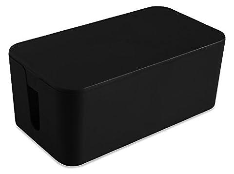 Hestec 23410 Boîtier Cache Câble Plastique Noir 24 x 13 x 9.5 cm