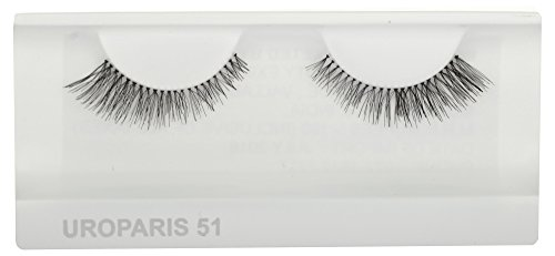 UROPARIS False Eyelashes for Women, 51, Black