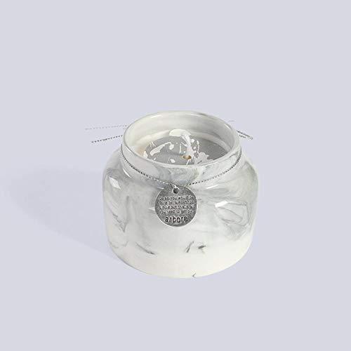 Soja-wachs-körper-massage-kerze (Monster Nordic Style Pure Soja Kerzenglas Flammenlose Duftkerzen Kreatives zylindrisches Geschenk für Hochzeiten zum Geburtstag, Grau)
