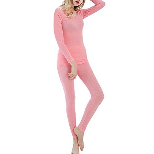 Zhuhaitf Mode Bequem für Damen Soft & Lightweight Thermal Underwear Women Base Layer Slim Fit Top & Bottom Ladies Pajamas (Base Lightweight Layer Bottom)