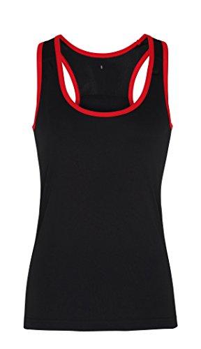 Workwear World - T-shirt de sport - Femme Black/Red