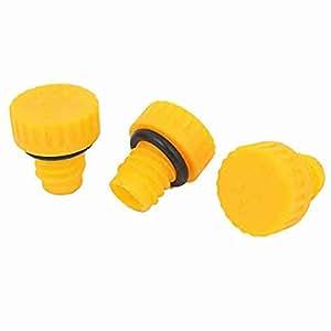 Yellow 15mm Gewinde Kunststoff Oil Plugs für Air Compressor 3 Stück