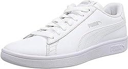Puma Smash v2 L, Unisex-Erwachsene Sneakers, Weiß (Puma White-Puma White), 40.5 EU (7 UK)