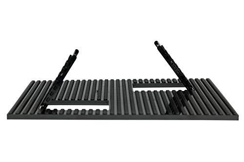 Strictly Briks Trap & Gap   Stapelbare Bauplatte   mit Rampen & Falltüren + 5 Bausteine   100 % kompatibel mit Allen führenden Marken   Schwarz   25,4 x 25,4 cm - Schwarz Stacker