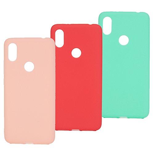 Beaulife. 3X Funda Xiaomi Mi S2 Carcasa Silicona Colores del Caramelo Protector TPU Ultra-Delgado Caso Caja para Teléfono Xiaomi Mi S2 Pulgada Case Carcasas Flexible Mate Opaco Ultra Ligero