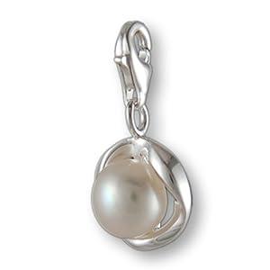Melina Damen-Charm Anhänger Süßwasserperle 925 Sterling Silber 1801210